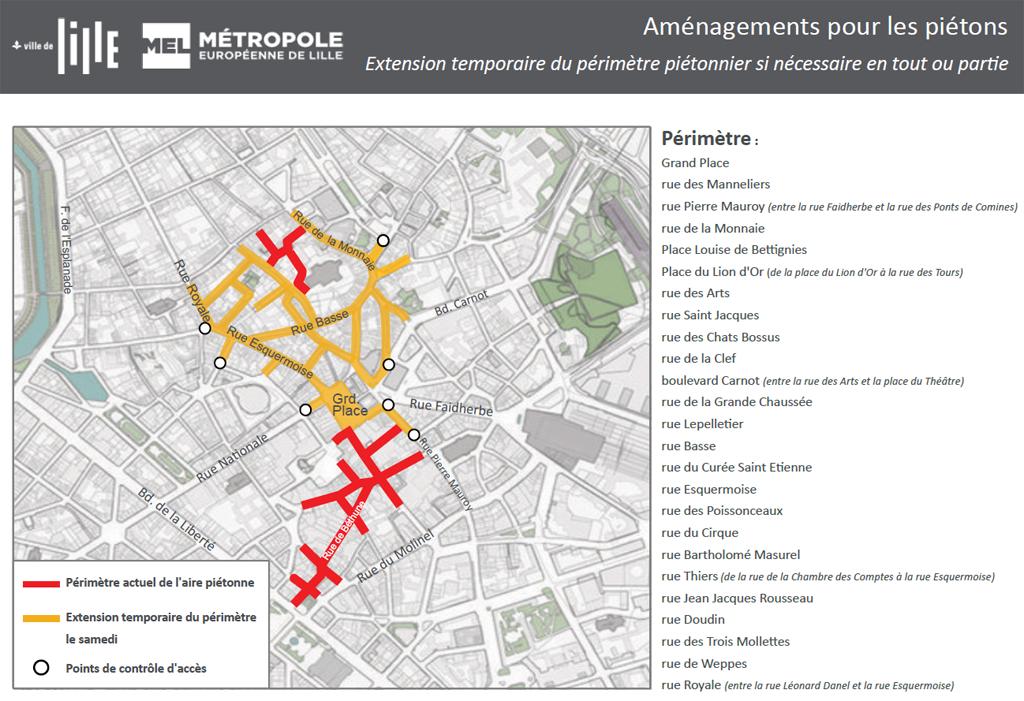 Plus de place pour les piétons et les vélos dans le centre-ville de Lille