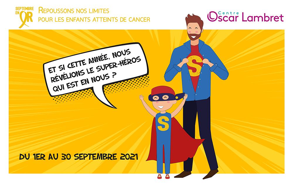 Septembre en or 2021 – Le mois pour lutter face aux cancers des enfants